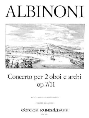 Concerto per 2 oboi op. 7 n° 11 -2 Oboen Klavier laflutedepan