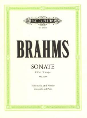 Sonate en Fa Majeur op. 99 BRAHMS Partition Violoncelle - laflutedepan