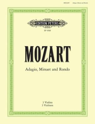 Adagio, Menuet et Rondo MOZART Partition Violon - laflutedepan