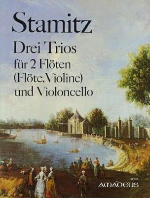 3 Trios für 2 Flöten Violoncello - Stimmen STAMITZ laflutedepan