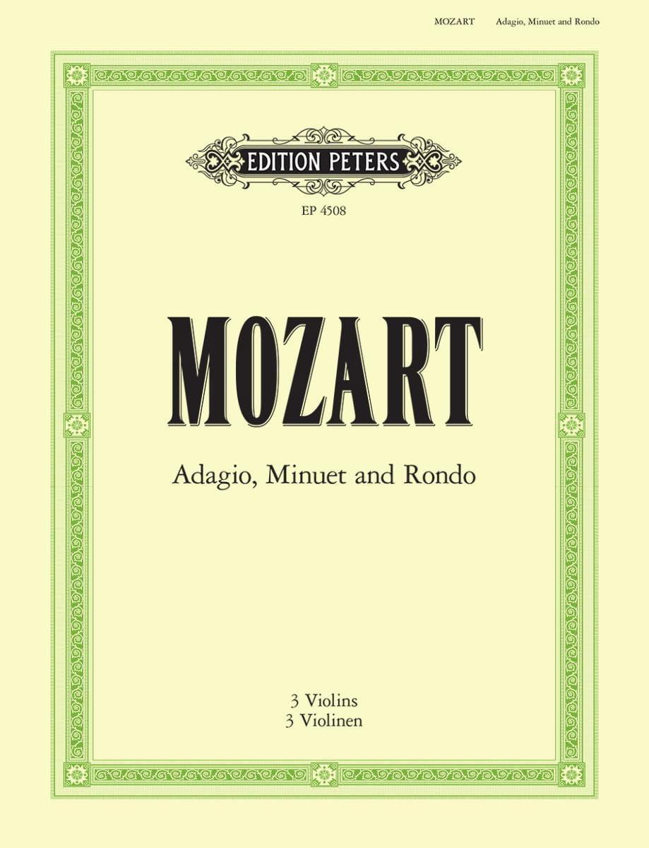 Adagio, Menuet et Rondo - MOZART - Partition - laflutedepan.com