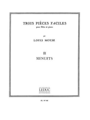 3 Pièces faciles 3. Menuets Louis Moyse Partition laflutedepan