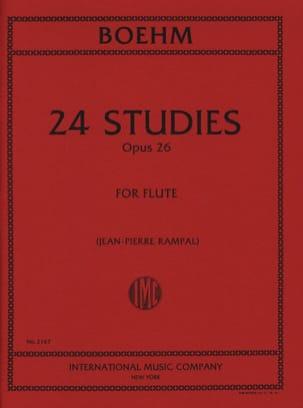 24 Etudes op. 26 Théobald Boehm Partition laflutedepan