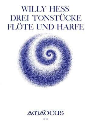 3 Tonstücke - Flöte Harfe Willy Hess Partition Duos - laflutedepan