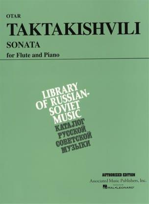 Sonata Otar Taktakishvili Partition Flûte traversière - laflutedepan