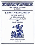 12 Sonates op. 2 n° 1-3 Johann-Philipp Krieger Partition laflutedepan