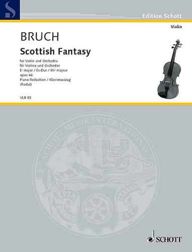 Schottische Fantasie op. 46 - BRUCH - Partition - laflutedepan.com