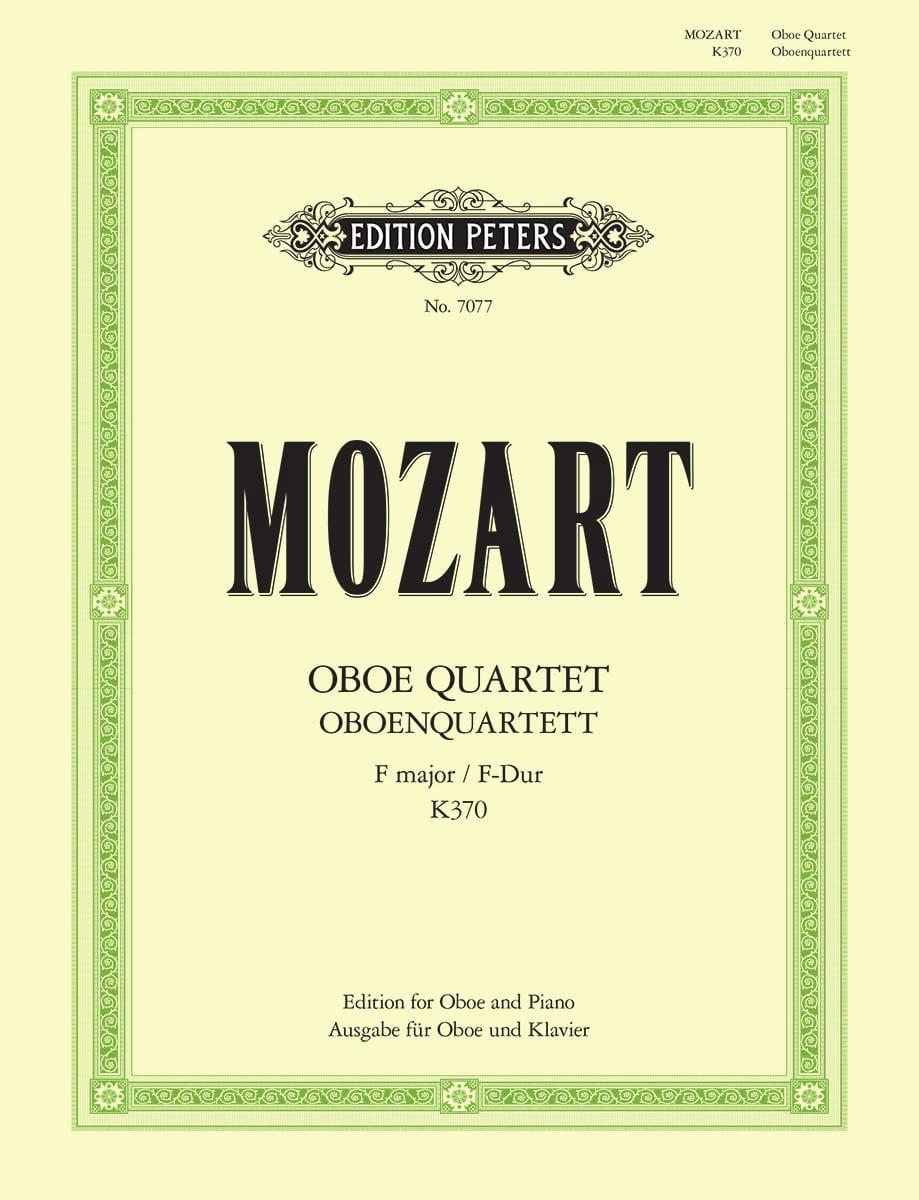 Quatuor Pour Hautbois K.370 en Fa Majeur - MOZART - laflutedepan.com