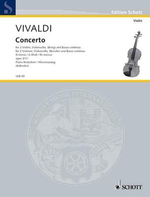 Concerto en Ré Min.Op.3 N°11 - Rv .565 VIVALDI Partition laflutedepan