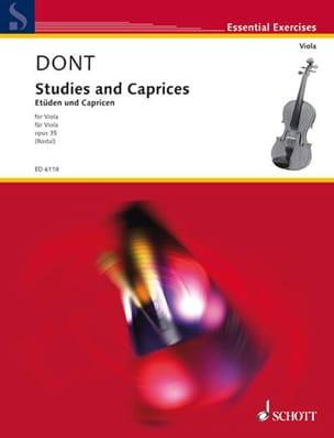 Studies and Caprices op. 35 - Viola Rostal Jacob Dont laflutedepan