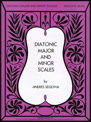Diatonic major and minor scales Andrés Segovia Partition laflutedepan