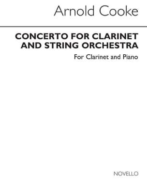 Concerto for Clarinet - Clarinet piano Arnold Cooke laflutedepan