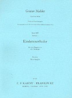 Kindertotenlieder - Partitur - MAHLER - Partition - laflutedepan.com