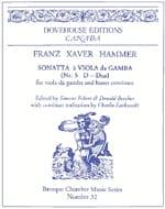 Sonate n° 5 en ré majeur Franz Xaver Hammer Partition laflutedepan