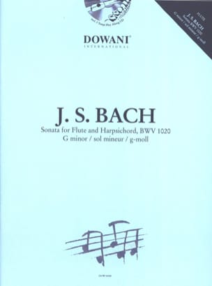 Sonate en sol min. BWV 1020 - Flûte clavecin BACH laflutedepan