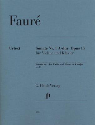 Gabriel Fauré - Sonate pour violon n° 1 en La majeur op. 13 - Partition - di-arezzo.fr