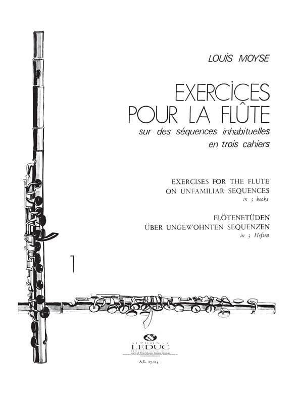Exercices pour la flûte - Volume 1 - Louis Moyse - laflutedepan.com
