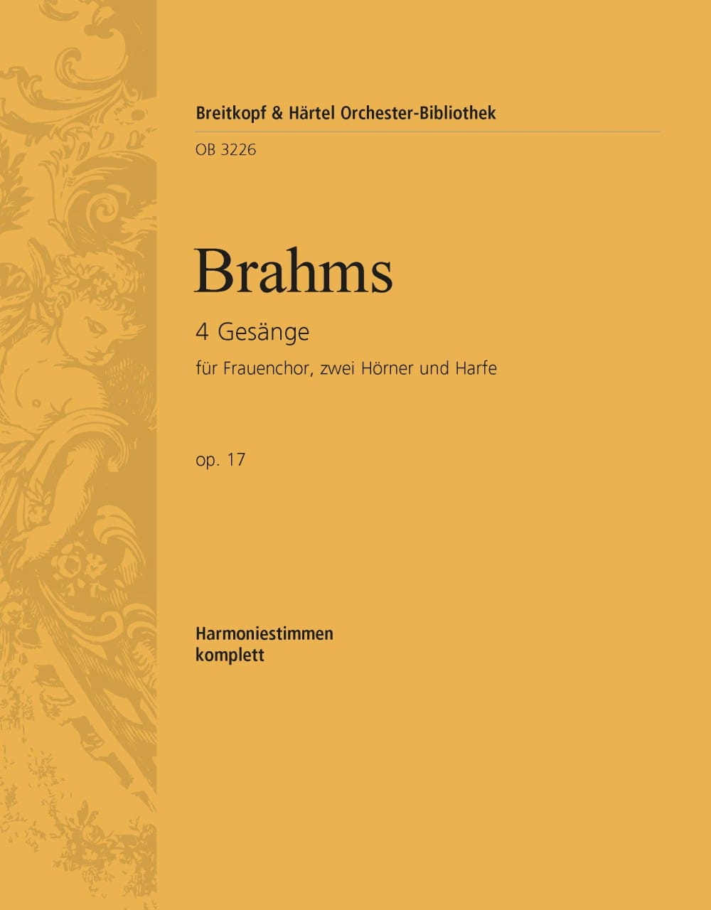 Vier Gesänge op. 17 - BRAHMS - Partition - laflutedepan.com
