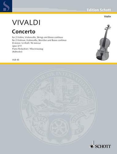 Concerto en Ré Min.Op.3 N°11 - Rv .565 - VIVALDI - laflutedepan.com