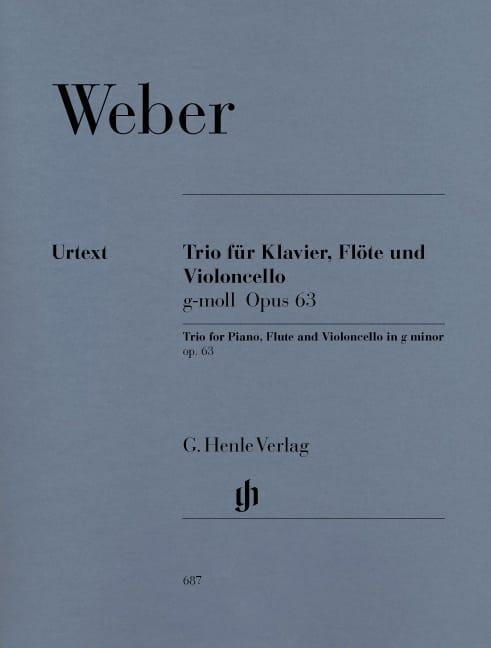 Trio en sol mineur op. 63 pour piano, flûte et violoncelle - laflutedepan.com