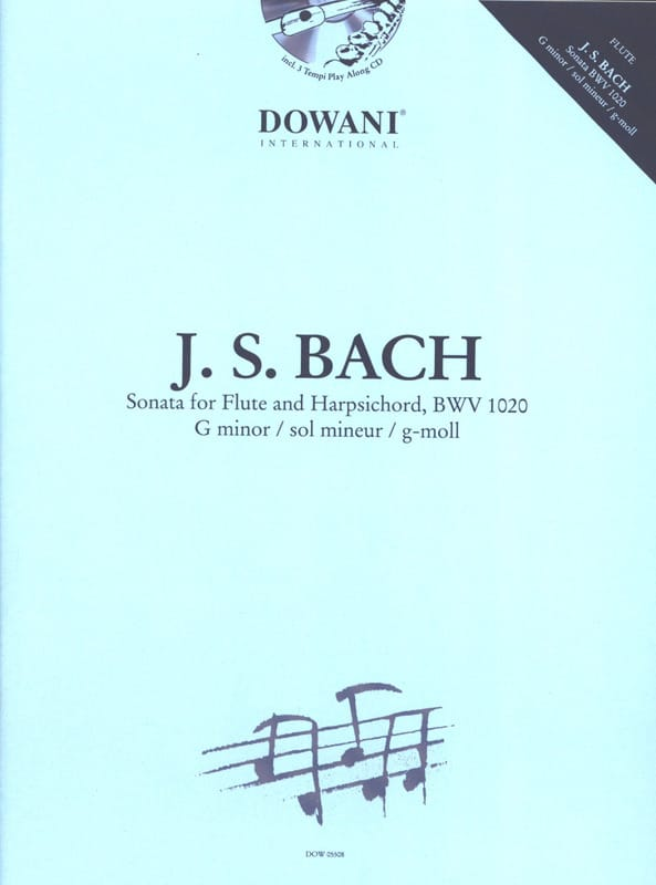Sonate en sol min. BWV 1020 - Flûte clavecin - BACH - laflutedepan.com