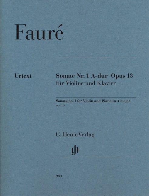 Sonate pour violon n° 1 en La majeur op. 13 - FAURÉ - laflutedepan.com