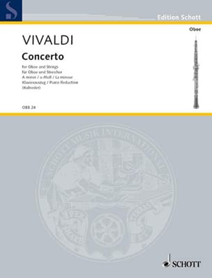 VIVALDI - Concerto in A minor PV 42- RV 461 - Oboe and piano - Partition - di-arezzo.co.uk
