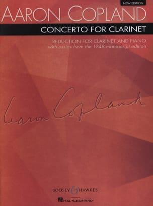 Concerto for clarinet - Clarinet piano - COPLAND - laflutedepan.com