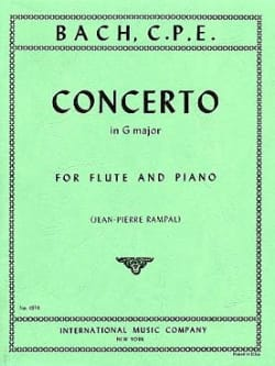 Concerto in G major Wq 169 - Flute piano laflutedepan