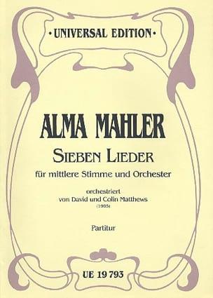 Sieben Lieder für mittlere Stimme und Orch. - Partitur laflutedepan