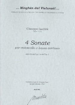 4 Sonates extr. op. 1 et op. 3 Giuseppe Maria Jacchini laflutedepan