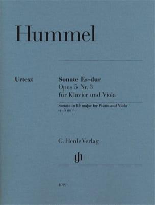 Sonate pour alto en Mi bémol majeur op. 5 n° 3 HUMMEL laflutedepan