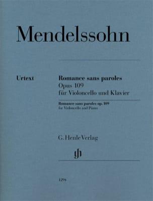 Romance sans paroles, op. 109 MENDELSSOHN Partition laflutedepan