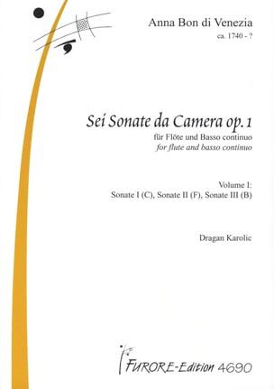 Sonatas for flute op.1 vol. 1 Anna di Venezia Bon laflutedepan