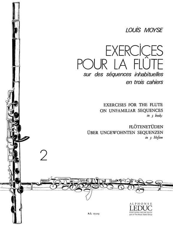 Exercices pour la flûte - Volume 2 - Louis Moyse - laflutedepan.com