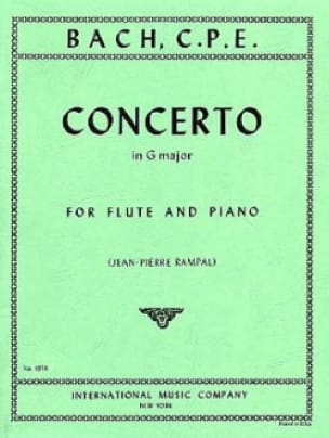 Concerto in G major Wq 169 - Flute piano - laflutedepan.com