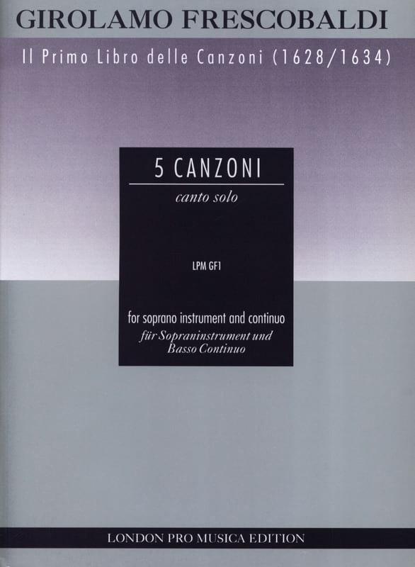 5 Canzoni - Sopraninstr. u. Bc - FRESCOBALDI - laflutedepan.com