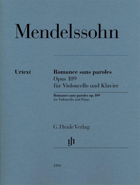 Romance sans paroles, op. 109 - MENDELSSOHN - laflutedepan.com