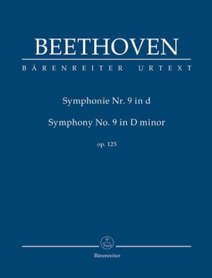 BEETHOVEN - Sinfonía n.º 9 en re menor - Conductor - Partition - di-arezzo.es