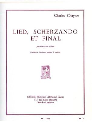 Lied Scherzando et Final Charles Chaynes Partition laflutedepan