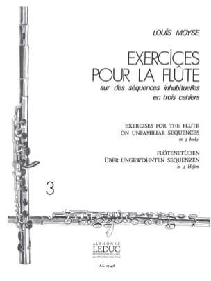 Exercices pour la flûte - Volume 3 Louis Moyse Partition laflutedepan