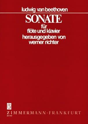 Sonate B-Dur -Flöte Klavier BEETHOVEN Partition laflutedepan