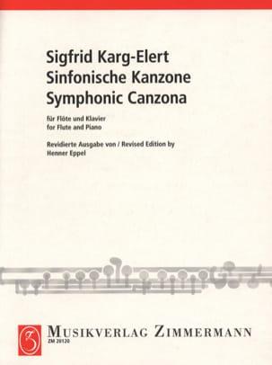 Sinfonische Kanzone Sigfrid Karg-Elert Partition laflutedepan