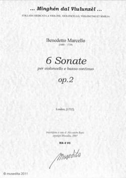 6 Sonates Benedetto Marcello Partition Violoncelle - laflutedepan