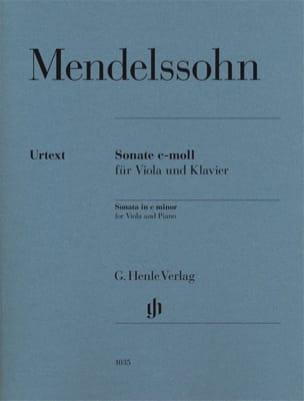 Sonate pour alto en ut mineur MENDELSSOHN Partition laflutedepan