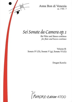 Sonatas for flute op. 1 vol. 2 - laflutedepan.com