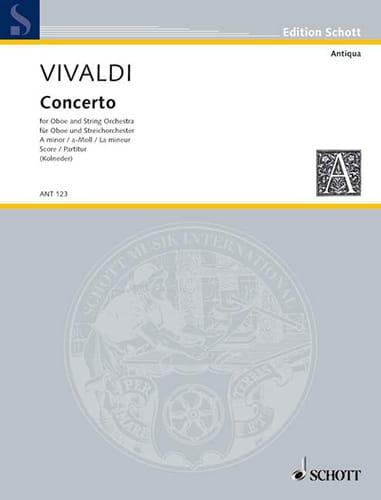 Concerto a-moll für Oboe PV 42 - Partitur - VIVALDI - laflutedepan.com