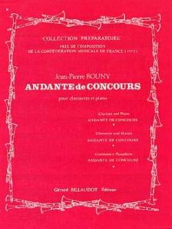 Andante de concours Jean-Pierre Bouny Partition laflutedepan