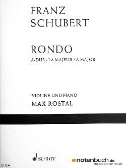 Rondo A-Dur D 438 - Violine Klavier SCHUBERT Partition laflutedepan