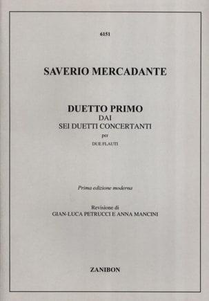 Duetto Primo - 2 Flauti Saverio Mercadante Partition laflutedepan